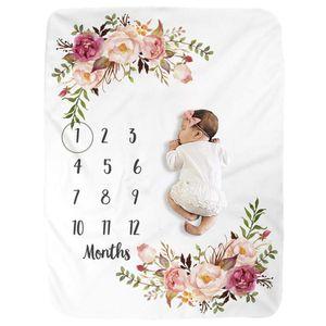 Infant Baby Milestone Blanket DIY Photo Girl Boy Newborn Photography Premium Fleece Baby Monthly Shower Blanket CX200704