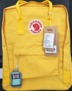 Official Fjallraven Kanken Yellow Canvas Backpacks Fjallraven Kanken Childrens Backpack Outdoor bag For Girls Outlet Online