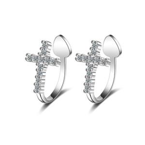 Wukaka Fashion Femmes Cross Clip Boucles d'oreilles pour pince à oreilles Womens Oreille Sans piercing Mode bijoux