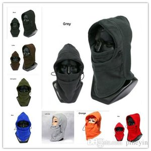 8 colors Winter plus velvet padded warm riding hood men and women ear protection face Hat snow caps wool woolen hats