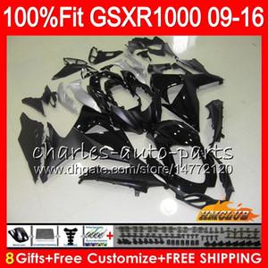 Впрыск для SUZUKI GSXR1000 2009 2010 2011 2012 2014 2015 2016 16HC.129 GSXR-1000 K9 GSXR 1000 09 10 11 12 13 15 16 Обтекатель матовый черный