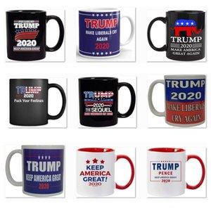 2020 Trump Kupa Kupa Cumhurbaşkanlığı Seçim ABD Makyaj Amerika Büyük Yine Trump Seramik Kahve Süt Kupası Kupa Noel Hediyesi AN3188