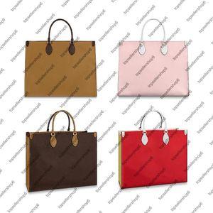 M44576 OnTheGo GM Donne Tote Bag borsa della borsa Genuine Leather Shoulder Bag Top Manico Strap fodera in microfibra Shopping Bag