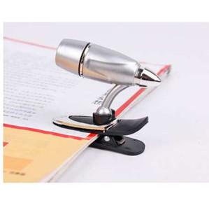 5pcs lot Mini LED book lights, bullet-shape reading lamp 3W 12V night light like a bullet bright flexibible clip reading light