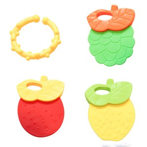 4pcsset baby mitts teething mitten fruit marine life shape teethers toy gifts newborn nursing mittens teether baby play