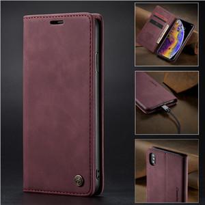 Caseme-Magnetkoffer für Samsung Anmerkung 20 Ultra S20 plus Leder-Flip-Wallet-Abdeckung für iPhone 12Pro Max 11 x xr