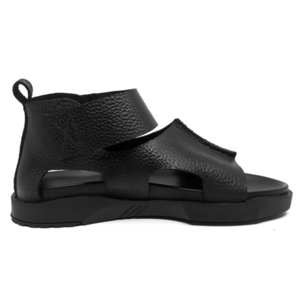 2020 Fashion Mens Thick Platform Sandals Cow Real Leather Gothic High Top Summer Sandal Beach Leisure Hook Loop Gladiator Shoes