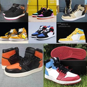 New royal toe High 1s Basketball shoes Jumpman 1 pine green black Men Women Sneakers Fearless court purple white UNC Patent Trainers w8c554#