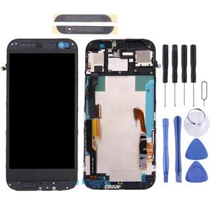 Schermo LCD e Digitizer Assembly Full frame copertura di obiettivo di vetro anteriore per HTC One M8