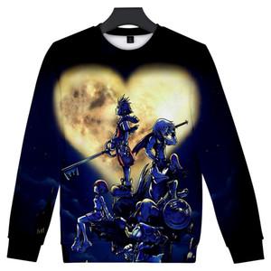 Frdun Kingdom Hearts 3D Rundkragen Sweatshirt Pullover Cool Oversize 2019 Neues Jahr Cool Hot Game Unisex Sweatshirt