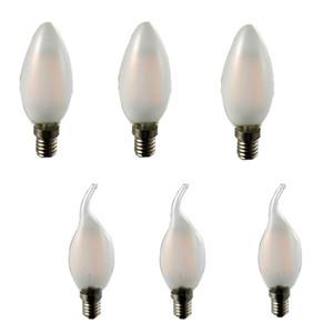 Dimmable Lampe 110 V 220 V 2 W 4 W 6 W Led Filament puce E14 Edison Bougie Ampoule Rétro De Tungstène Lustre Éclairage CRESTECH