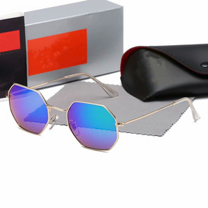 2pcs Best Quality Matte Gold Metal Frame Purple lens Sunglasses Men Women Pilot UV400 Vassl Sun Glasses 58mm Come box3549