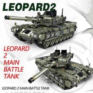 1747 шт Leopard 2 Основной боевой танк модели Строительные блоки Совместимый Legoingly Военный WW2 армии Солдат Bicks Игрушки для мальчиков Kid