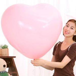 36 Polegada Engrossar Balão Em Forma De Coração Grande Festa De Aniversário De Látex Decoração de Casamento Amor Latex Balões Dia Dos Namorados Balão BH1266 T03
