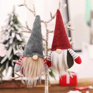 Natal Handmade Swedish Gnome escandinavo Tomte de Santa sem rosto ornamento boneca Nordic Plush Toy Xmas Decor Árvore ornamento FFA3226