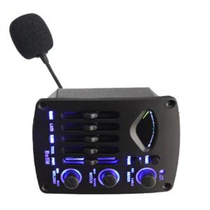 NAOMI 5 Band Guitar EQ Piezo C-Mic Mixer W / LCD Chromatic Tuner Blue Backlight BS5M