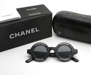 Rodada Inglês carta óculos de sol dos homens e mulheres marca Designer óculos de sol moda homens e mulheres Personalidade óculos de sol