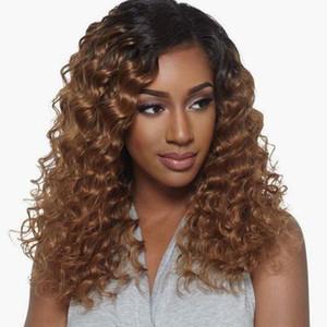 선염 전체 레이스 가발 인간의 머리 T1B 30 선염 레이스 앞 가발 페루 처녀 머리 깊은 곱슬 130 % 밀도 선염 인간의 머리 가발