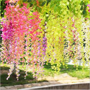 Nuevo diseño 36 PCS Decoración de la boda Guirnalda Seda Flor artificial Wisteria Vines simulación Rattan Party Home Garden Hotel Decor