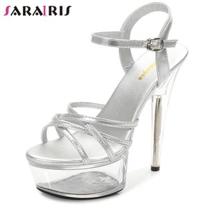 SARAIRIS Sexy Dress Party Club Female High Heel Platform Solid Summer Sandals Fashion Sandals Women Shoes Woman