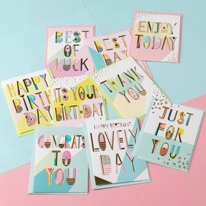 colorful paper birthday cards gift mini birthday greeting cards metallic message cards