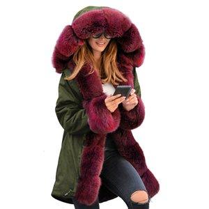 Winterfrauen Baumwollmantel Europa und den Vereinigten State19 neuen Parka S-2XL plus Größe mit Kapuze Art und Weise Wärme Kleidung feminina LR390