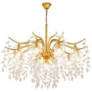 Restaurant Kronleuchter Metall Kristall Lampe Gold / Schwarz New Bar Kristall Kronleuchter Hanglamp Kronleuchter Suspension Gold Kronleuchter MYY