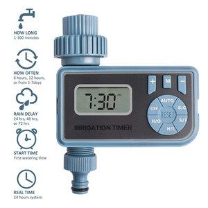 1pc Smart Automatic électronique Système d'irrigation Contrôleur minuterie numérique eau avec écran LCD Accueil irrigation minuterie