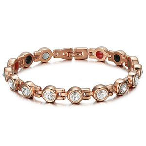 Bracelets en cristal magnétique Bangles bijoux en strass Femmes Accessoires santé Bioénergie Hologram Bracelets Germanium