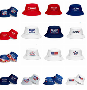 Donald Trump 2020 hat keep america great presidential election 2020 vote Bucket Hat Unisex Fishmen Cap 17 styles LJJK2170