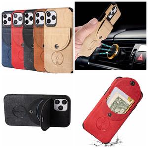 Cartão de bolso carteira de couro capa para Iphone 11 XS MAX X XR XS Titular 8 7 6 Car Suporte magnético suporte tampa do telefone Cash Card ID pele Luxo