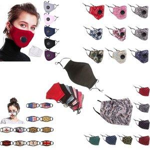 Çok Stil Karışık Maskeler PM2.5 Toz Korumalı Kirli Hava-Dayanıklı Maske Baskılı Desen Kamuflaj Yeniden Yıkanabilir Yetişkin Çocuk Yüz Maskesi
