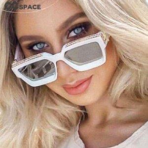 Ccspace 46167 Plaza fresca de lujo gafas de sol mujeres de los hombres de moda de los vidrios Uv400 Ccspace 46167 algodón más nuevo hYPcn