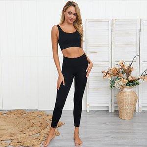 dressing2020 Kadınlar Sıkı spor giyim Yüksek Bel Legging Spor Sorunsuz Aktif Spor Spor Koşu Eğitim Suits ayarlar
