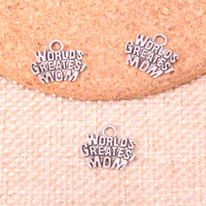 200 шт. CHARMS Worlds величайшая мама MAMA 14 * 12 мм антиквариат подвесных подвесок, старинные тибетские серебро, DIY ювелирные изделия ручной работы
