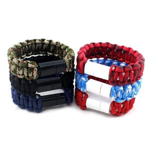 Outdoor Climbing Survival Nylon Bracelet Wristband Hiking USB Cable Bracelet For Phone Accessories New Style Wrist Bands Survival Bracelets