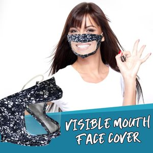 New designer face mask visible mouth face mask Dust washable Windproof Masks in stock DHL fast shipping DHA188
