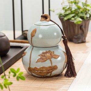 brother kiln ceramic your kiln violet arenaceous caddy gourd size coarse pottery seal storage tanks pu 'er tea boxes