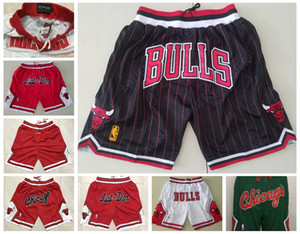 hombres ChicagoToros Jersey Markkanen 1 Rose 8 LaVine Sólo Don cosido transpirable bolsillo del pantalón pantalón clásico de baloncesto Pantalones cortos
