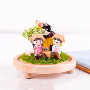 Lovers Couple Figurines Miniature Craft Fairy Garden lovers Landscape DIY Ornament for wedding party home garden decoration