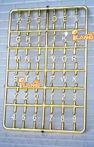 1: 12 Doll House DIY Dollhouse Door Mailbox Parts Lettered with Numbers Model Board