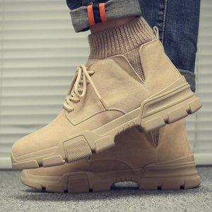 Новый 2019 осень ранняя зима обувь Мужские ботинки из натуральной кожи Обувь Зимняя Обувь мужская замша мужская Ботильоны A1679