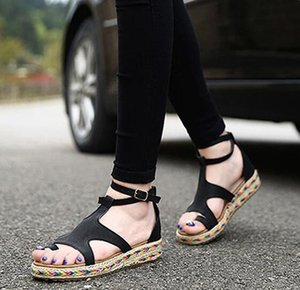 Sexy2019 Code Will Sandals Woman Straw Plaited Article Fisherman Shoe Pinch Toe Roma Scarpe da donna