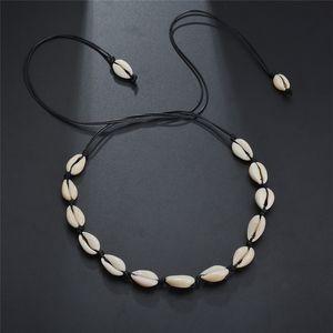 Shell ожерелье Choker Long Chain Shell Чокеры ожерелье лето пляж мода ювелирные изделия Женщина ожерелье Воли и Sandy подарок