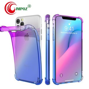 Free Shipping Gradient Colors Anti Shock Airbag Clear Cases For iPhone 11 Pro Max XR XS 8 7Plus 6S For Samsung S10 S9 Note 9