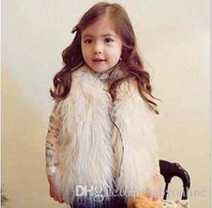 Yeni Kız Yelek Kürk Yelek Sıcak Yelek Kolsuz Coat Çocuk Ucuz eskitmek Kış Coat Bebek Giyim Çocuk Giyim Kız Yelek MC0307
