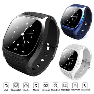 Smart watch m26 bluetooth smartwatch led display esportivo relógios de pulso pedômetro alitmeter snyc para ios smartphone android u8