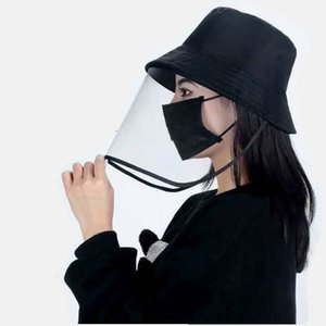 Protective cap detachable droplet cap casual sunscreen mask sun visor hat stylish go with uv protection fisherman hat