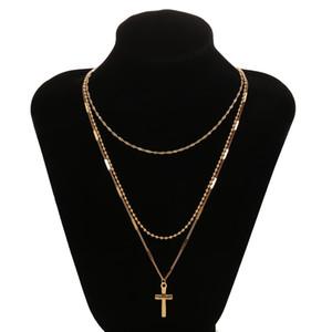 Collane di perle bohemien per donne Vintage Girocollo Collana multistrato croce Colares Gioielli festa di laurea 2019 Nuovo