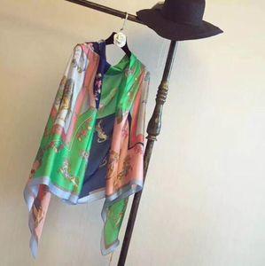 Дизайн весенние и летние шелковые шарфы специально разработаны для женских брендов 180 * 90см